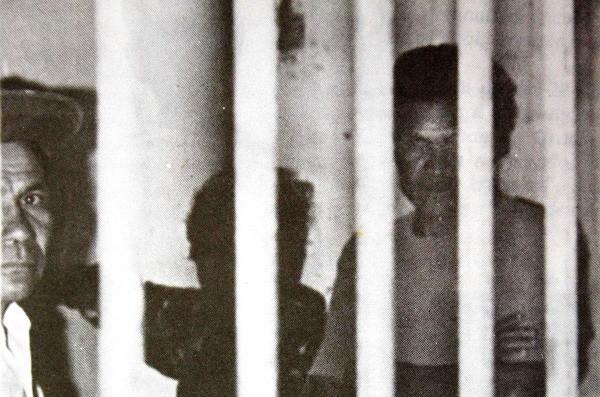 Imagem dos presos indígenas na Fazenda Guarani
