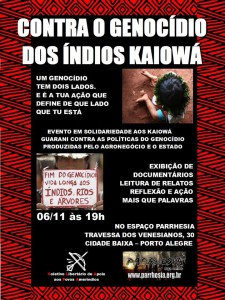 Contra o Genocídio dos Kaiowá